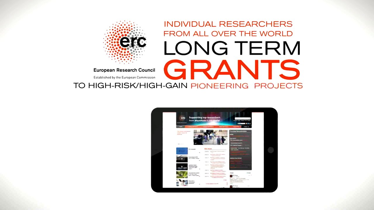Watch the video:Step by step to ERC Grants